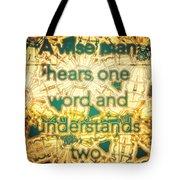 One Word Tote Bag