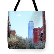 One World Trade Center In Spring Tote Bag