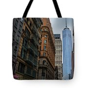 One World Trade Center New York Ny From Nassau Street Tote Bag