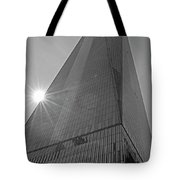 One World Trade Center New York Ny Sunset Black And White Tote Bag