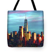 One World Trade Sunset Spectacle Tote Bag