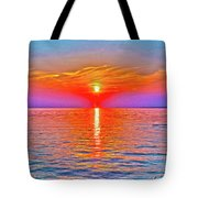 Oneida Lake Sunset Art Tote Bag