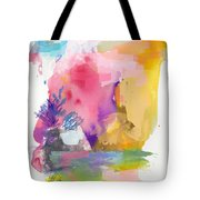 Oniric Landscape Reflections With Sun And Bird Tote Bag