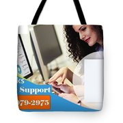 Online Support Phone Number For Quickbooks Enterprise Tote Bag