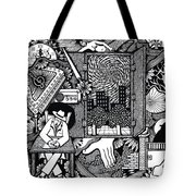 Only I Keep Watch Sleepy Listening Tote Bag