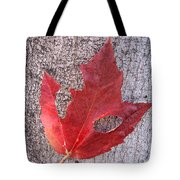 Only One Leaf To Live Tote Bag