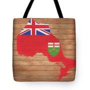 Ontario Rustic Map On Wood Tote Bag