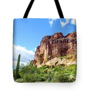 Onward And Upward At The Superstition Mountains Of Arizona Tote Bag