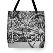 Oo Wagon Wheels Black And White Tote Bag