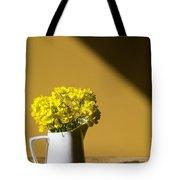 Good Morning Sunshine- Rapeseed Flowers And White Mug   Tote Bag