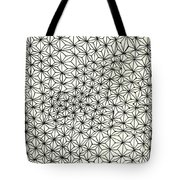 Op Art Abstract Triangle Design Tote Bag