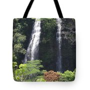 Opaekaa Falls On Kauai Before A Storm Tote Bag
