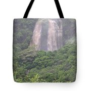 Opaekaa Falls On Kauai During A Storm Tote Bag