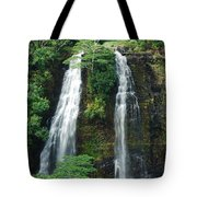 Opaekaa Waterfall Tote Bag