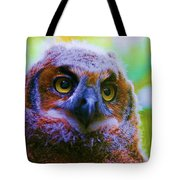Opalescent Owl Tote Bag