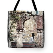 Open Air Bed Among The Arches India Rajasthan 1c Tote Bag