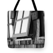 Open Black And White Tote Bag