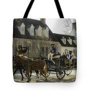 Open Carriage Ride In Colonial Williamsburg Virginia Tote Bag
