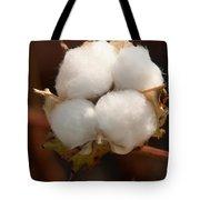 Open Cotton Boll Tote Bag