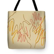 Open Hands Drawing Tote Bag