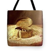 Open Jewelry Box With Pearls Tote Bag