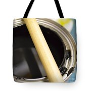 Open Paint Can With Brush Tote Bag