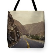 Open Road Through The Canyon Tote Bag