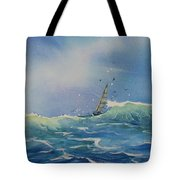 Open Waters Tote Bag by Laura Lee Zanghetti