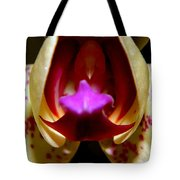 Open Wide - Orchid Macro Tote Bag
