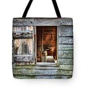 Open Window In Pioneer Home Tote Bag by Jill Battaglia