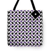 Optical Illusion Purple Black Flag 4. Tote Bag