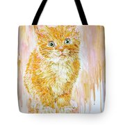 Orange .  Tote Bag