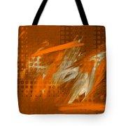Orange Abstract Art - Orange Filter Tote Bag