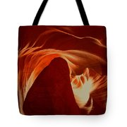 Orange Abstract At Upper Antelope Tote Bag