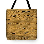 Orange And Black Abstract Tote Bag