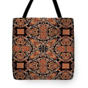 Orange And Black Mask Tote Bag