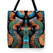 Orange And Blue Abstract 1 Tote Bag