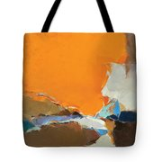 Orange And Brown Composition Tote Bag