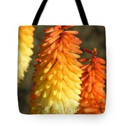 Orange And Gold Flower  Tote Bag