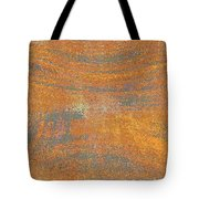 Orange And Gray Abstract Tote Bag