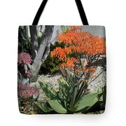 Orange And Pink Exotic Bell Flowers Tote Bag