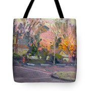 Orange And Pink Sunset Tote Bag