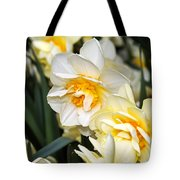 Orange And Yellow Double Daffodil Tote Bag