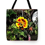 Orange And Yellow Flower Tote Bag