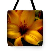 Orange And Yellow Lily Tote Bag