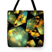Orange Aqua Honeycomb Tote Bag