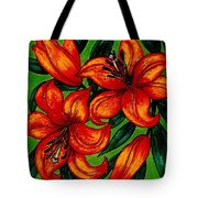 Orange Asiatics Tote Bag