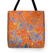 Orange Autumn Impression Tote Bag