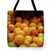 Orange Basket Tote Bag