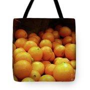 Orange Basket Tote Bag by Methune Hively